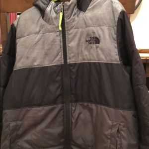 Reversible north face boys winter jacket